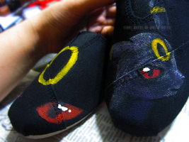 - Custom Umbreon Pokemon Shoes - by Esaki
