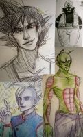 DBZ sketches 1 by mindxscape