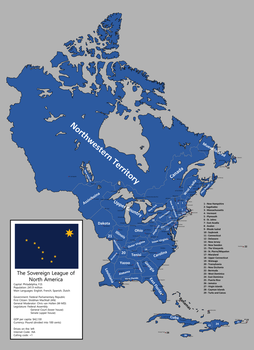 Map of the Sovereign League of North America(SLNA) by IEPH