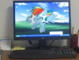 Rainbow Dash trying to escape by HAchaosagent