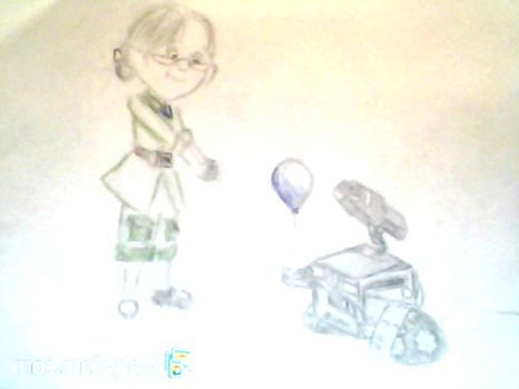 Webcam-toy-photo17 Ellie and Wall-E by willow27cec