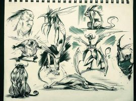 Creature Thumbnails by COLOR-REAPER