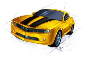 Bumblebee Camaro Concept by Lizkay