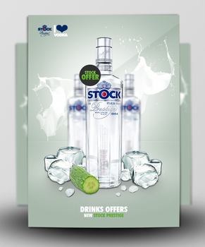 Vodka Ad by GraphicsBerry