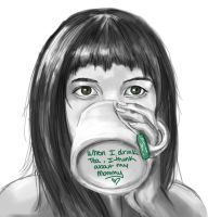 When I drink Tea.. by blindthistle