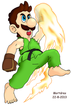 Luigi's uppercut by Mortdres