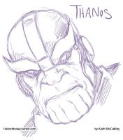 Thanos sketch by Thinkbolt