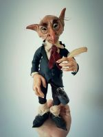 SOLD  - Goblin Fae Poseable Art Doll by FaunleyFae