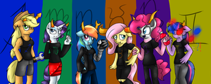Ponystuck Mane 6 by voidless-rogue