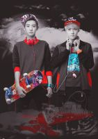 EXO: Chanyeol, Sehun by DGeneration-LOL