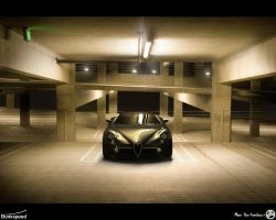 Alfa 8C Car Park- Hypershot by AfroAfroguy