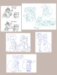 Conker doodle compilation - ft Berri, Bill, Rodent by Ribbedebie
