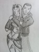 Tali x Shepard (11) by spaceMAXmarine