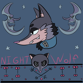 Night Wolf by pocketzombie11