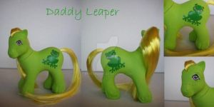 My little Pony Custom G1 Daddy Leaper by BerryMouse