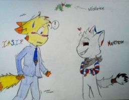 Mistletoe is Hanging (Contest Entry 2) by Moon-Gazer14