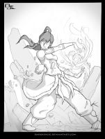 The Legend Begins:Korra Sketch by DarkKenjie