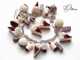 "Set ""Strawberry Cake"" by OrionaJewelry"