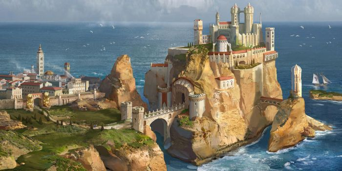 Casterly Rock (House Lannister) by AndrewRyanArt