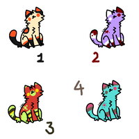 Cheap kitty adoptables [1/4 OPEN] by FunkyDreamer