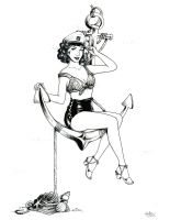 Commission: 1950s Pin-up by TirraMisu