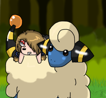 Blue and Mareep by xBlueFootx