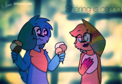 Sharing is caring by Fnafdoodle