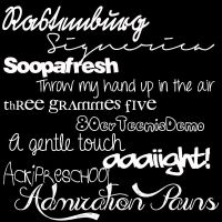 Fonts Pack #2 by LCBuenfil
