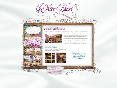 jewelry and beads webdesign by medienvirus