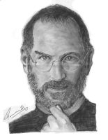 portrait of steve jobs by praneeth388