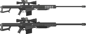 M82A1 Barret Black with Scope by 80markus