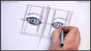 Learn how to draw two eyes 012 by drawingcourse