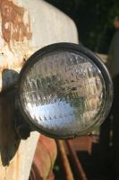 Old Tractor Headlight 001 by poeticthnkr