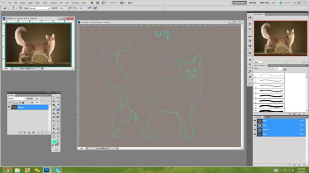 Wip Cj Ref by The-Derpfaced-Kitty