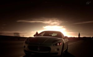 Maserati - Racing at Dusk by MercilessOne