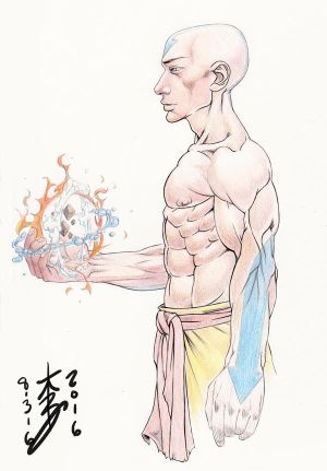 Avatar Aang Sketch by arcais