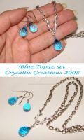 Custom - Blue Topaz set by CrysallisCreations