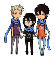 Chibi Three by JinGi