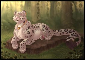 Tropical Snow Leopard by DolphyDolphiana