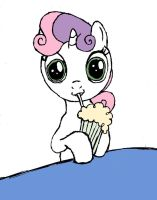 Milkshake Sweetie Belle by DoctorSpectrum