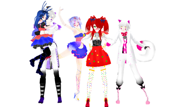 [MMD] [Sister Location] All the models are ready! by Natsumy-Paradise