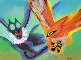 Sky Battle by Pidoodle