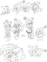 Marx and Magolor Doodles 2 by Chenanigans