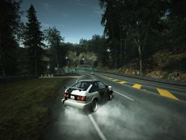 Team Need For Speed D-MAC AE 86 Drifting by benracer