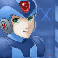 Megaman X - Smile - by Kippi