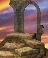 Sunset Archway by Cynnalia-Stock