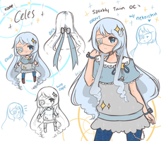 Twin OCs w/ nekoichu : Celes by mieille