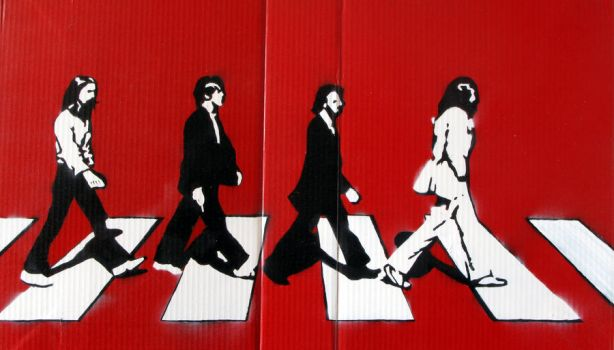 Stencil - Abbey Road by color-me-red