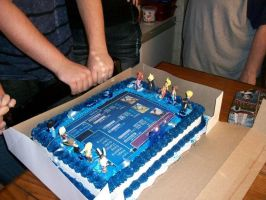 Final Fantasy Birthday Cake 4 by ChaoticBlossoms