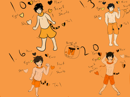 Reference/Tora's Stages through Time by GigaTora